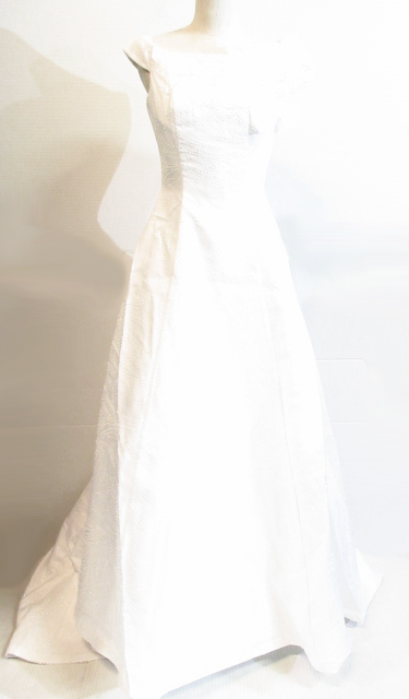 "8375c029ec650  中古 美品 Watabe Wedding""ワタベウェディング""ウエディングドレス ホワイトロングトレーン"