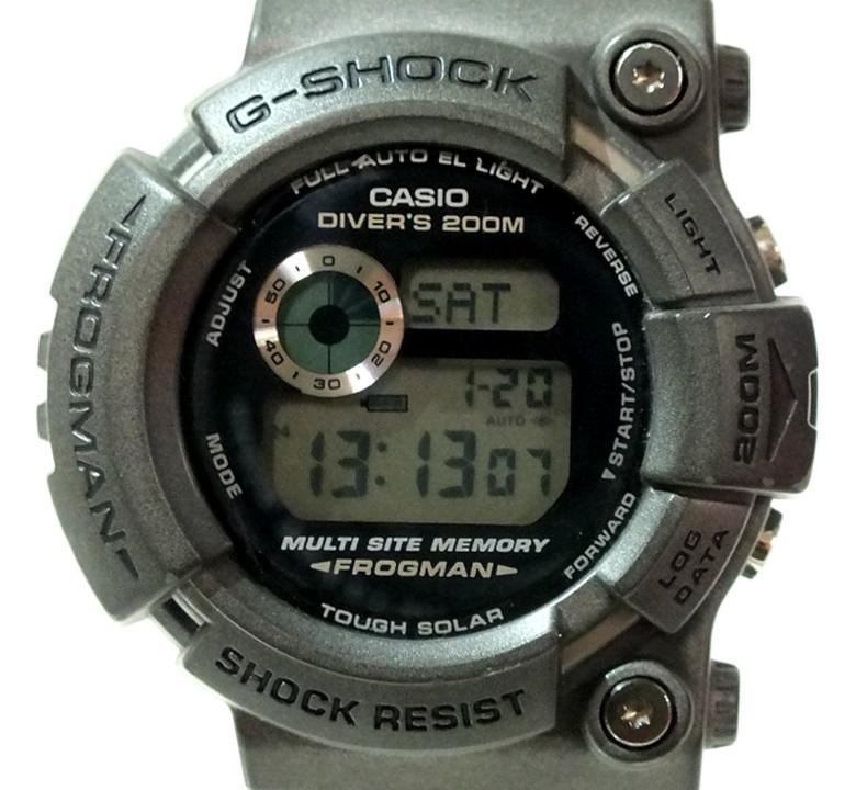 6171e9d557d6 【中古】CASIO G-SHOCK FROGMAN GW-200S-8JF