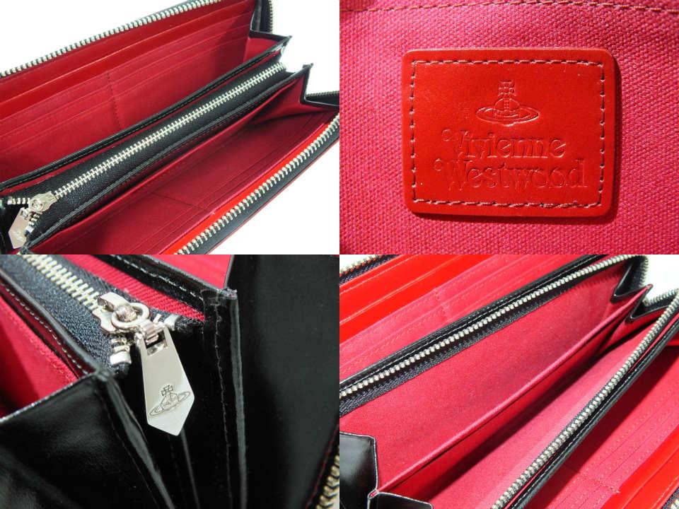 aa0d4db4d277 【中古】Vivienne Westwood SIMPLE TINY ORB ラウンドファスナー長財布