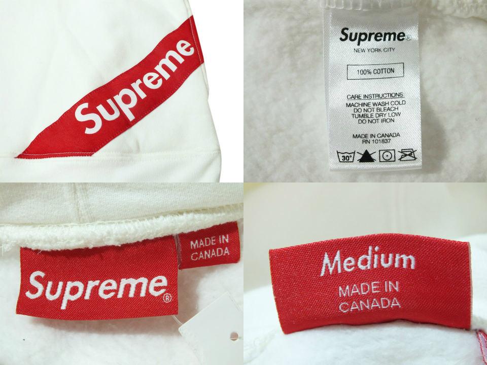 中古 supreme corner label hooded sweatshirt 18ss シュプリーム