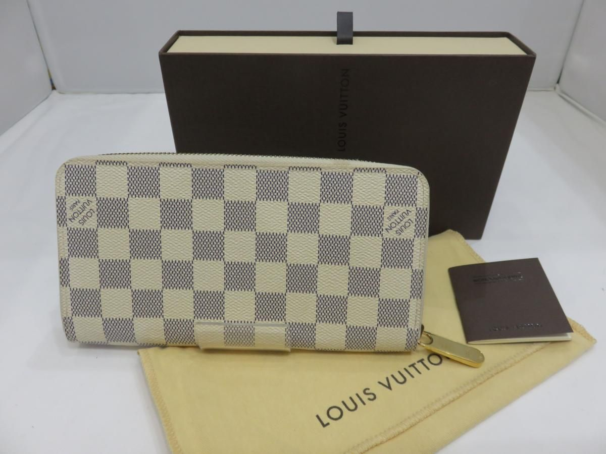 sale retailer 3891a ff11d LOUIS VUITTON ルイヴィトン ダミエ・アズール ジッピー ...