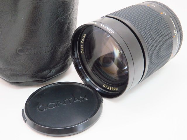 055yrs-105☆CONTAX コンタックス Carl Zeiss Planar T* 100mm F2 AEG Lens CY Mount ※中古