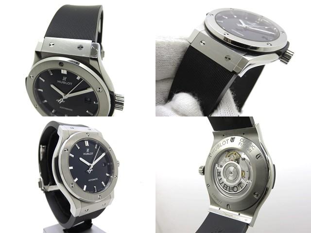best website b415e 5cead HUBLOT ウブロ クラシックフュージョン チタニウム メンズ腕時計 ...