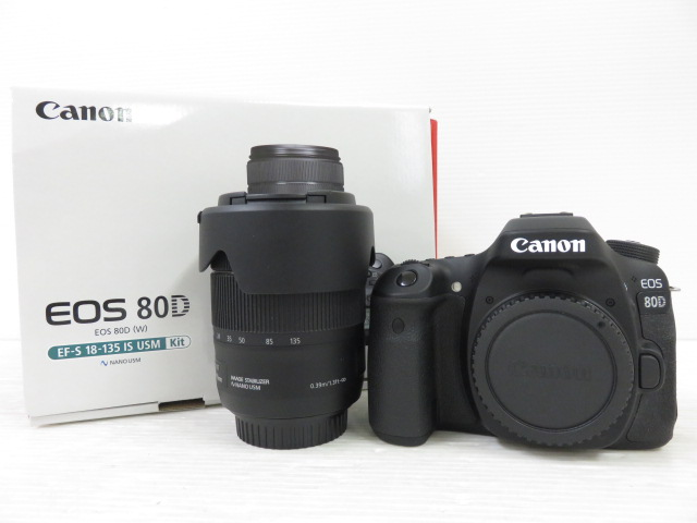 Canon EOS 80D EF-S18-135 IS USM Kit レンズキット 中古