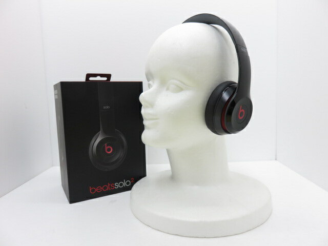 Beats by dr.dre beats solo 2 Black密閉型オンイヤーヘッドホン MH8W2PA/A ※中古
