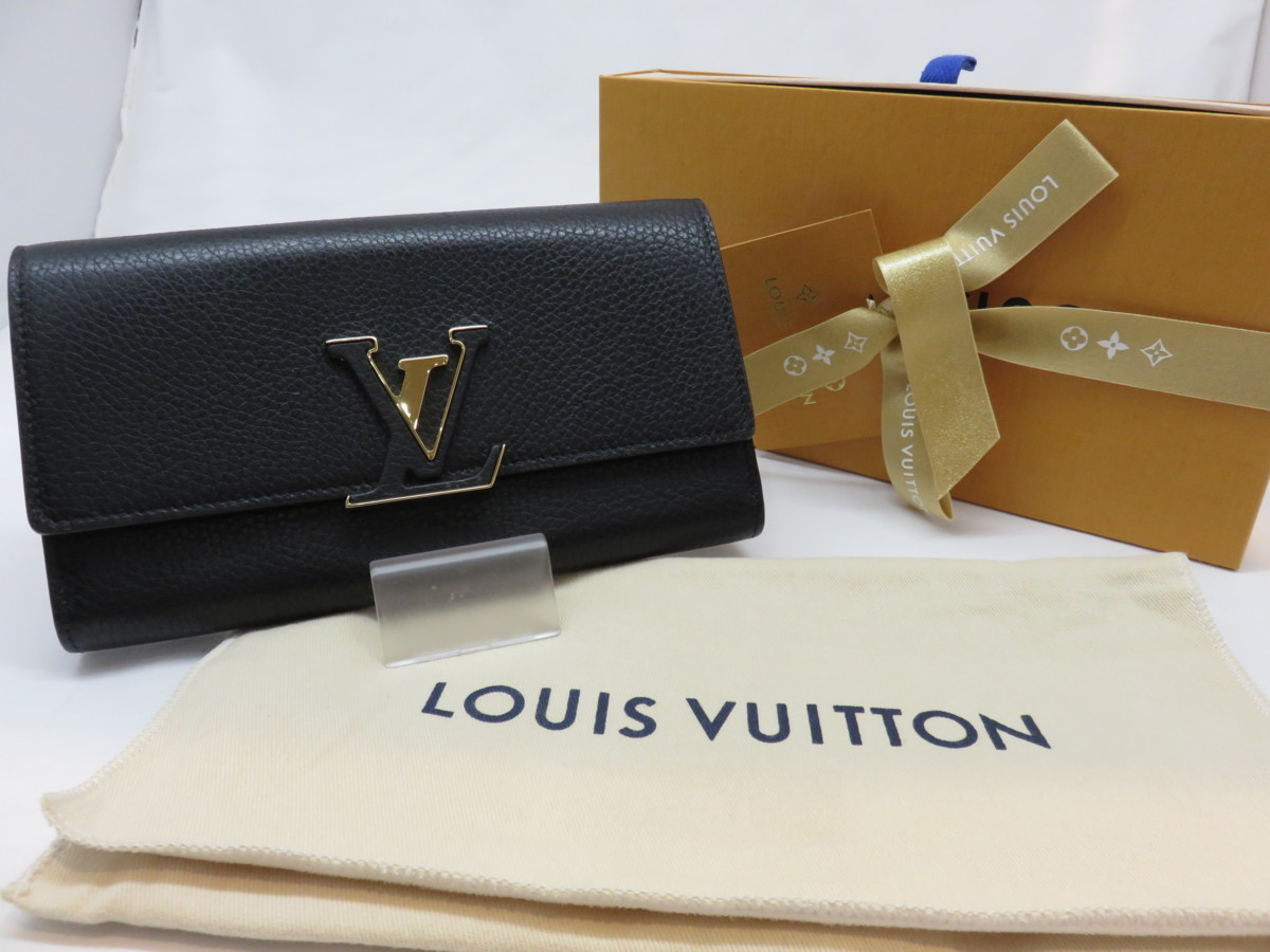 brand new 38d0a 4339d LOUIS VUITTON ルイ ヴィトン ポルトフォイユ・カプシーヌ ...