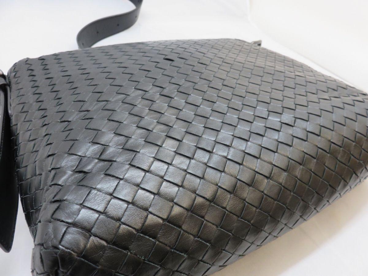 new product 3857f 5be28 JA084-BOTTEGAVENETA ショルダーバッグ ブラック レザー 本革 ...